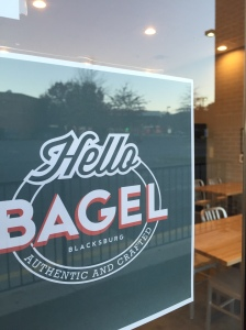 Hello Bagel is on South Main Street, a few doors down from the Vintage Cellar.