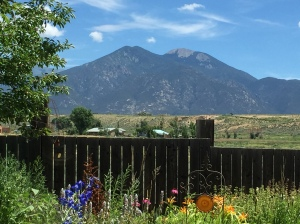 Taos Mountain in the afternoon ...